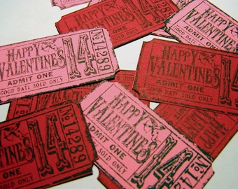 Valentine Tickets - Pink and Red (10)