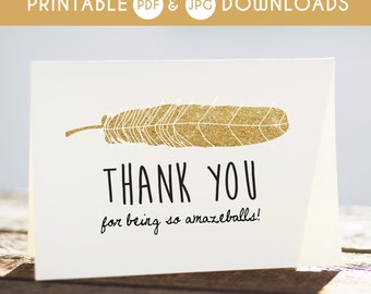 printable funny thank you, printable thank you card, thank you card, thank you note, thank you wedding card, digital download