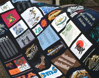 Custom-Made T-Shirt Quilt