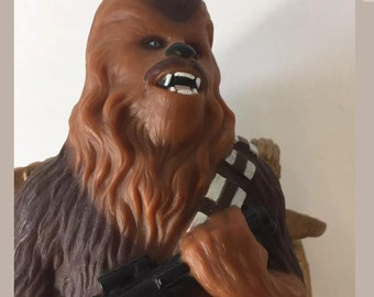 Star Wars Chewbacca C-3PO Action Figure Vintage 1995 Wookie Zipper Pull Applause