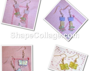 SALE! BUTTERFLY Earrings - Choice of Four Pairs