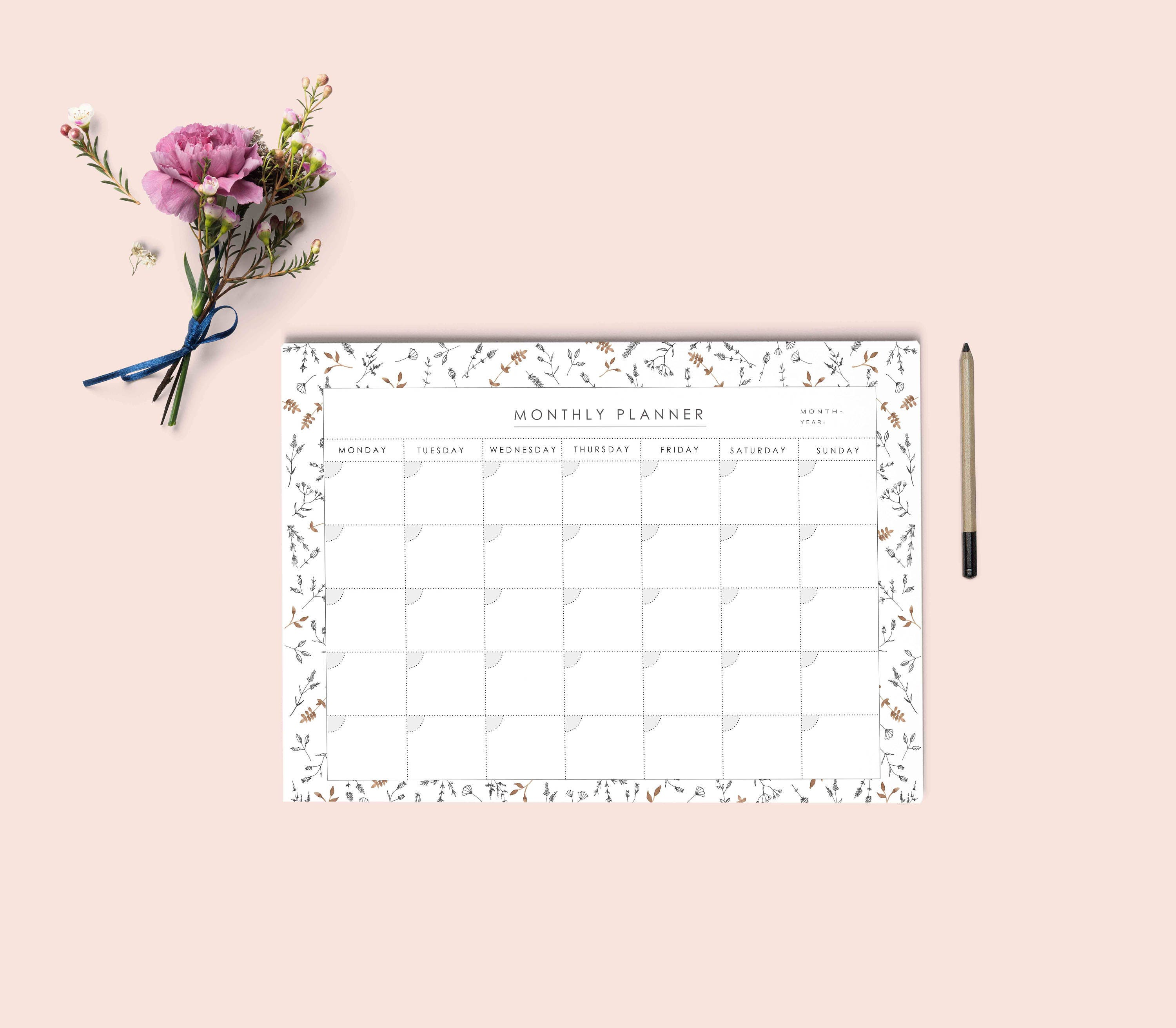 monthly planner download