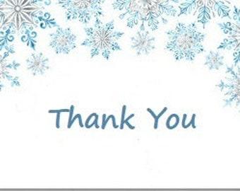9 Snowflake Thank You Tag