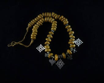 Copal fossil necklace