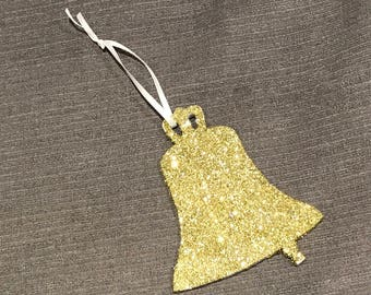 Christmas bell decorations x5