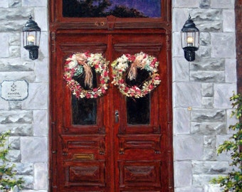 St Eustache Doors original oil painting created by Prankearts
