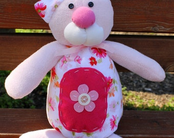 Soft toy for baby, bear toy, pink baby toys, girl toys,