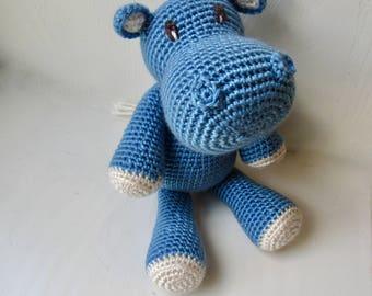 Hippo, Handmade Crochet Stuffed Hippo, Stuffed Hippo, Jungle Animal, Handmade Hippo, Amigurumi Hippo, Toy Hippo, Crochet Hippo, Hippo Doll