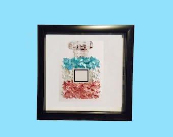 3D butterfly's wall art! 3D home  decor ! Handmade paper butterfly's! Small butterfly's in shadow box! Box frame artwork Perfume artwork