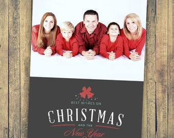 Photo Christmas Card - Digital File (Best Wishes)