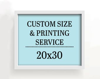 20x30 art print - custom printing services