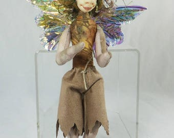 Art Doll-Gus the Sprite OOAK Cloth Doll Faery