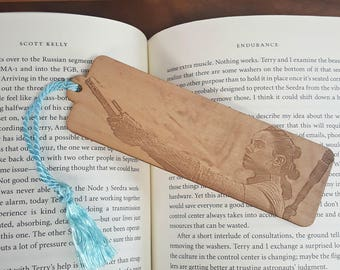 Star Wars Rey Lightsaber Bookmark with Tassel - Laser Engraved Wood