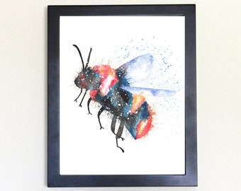 Bee Spirit Animal Art Print Watercolor