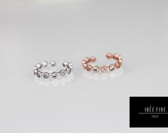 Circles & Crystals Expandable Ring