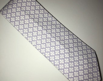Purple & White Diamond Skinny Tie