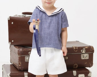 Baby boy shorts Toddler boy shorts Linen shorts White Linen shorts Summer shorts Boys clothes Diaper cover Ring bearer shorts Baptism shorts