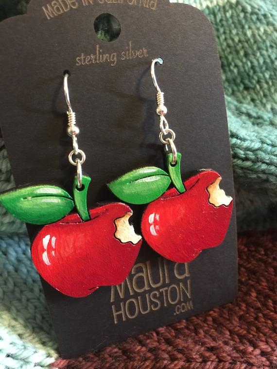 Red Apple Earrings