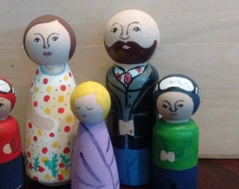 "Customized ""My Family"" Peg Dolls"