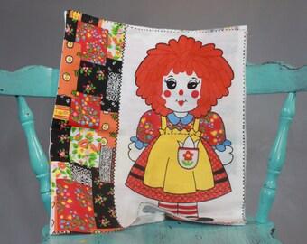 SALE Vintage Doll Fabric Raggedy Ann
