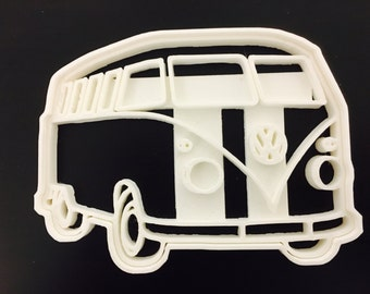 VW van Side cookie cutters Uk Plastic Cookie Cutter Fondant Cake Decorating