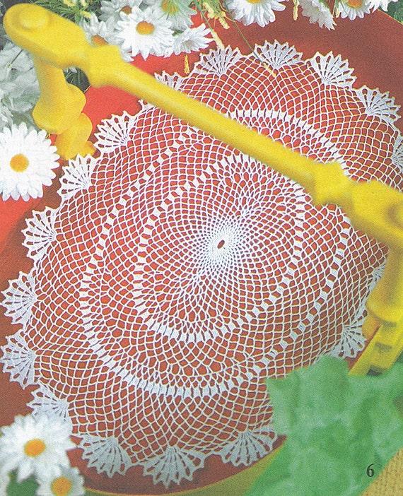 Muster von Valentina 152-6 ovale Spitze filet häkeln Baumwolle