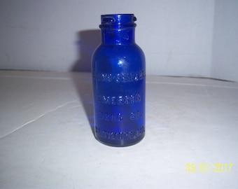 1920's  Bromo Seltzer Emerson Drug Co Baltimore, MD 4 5/8 inch cobalt blue medicine bottle