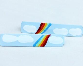 Rainbow Hair Clips