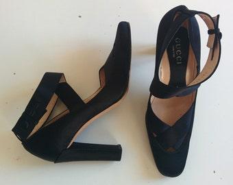 Gucci silk ballerina stiletto pumps Tom Ford Era