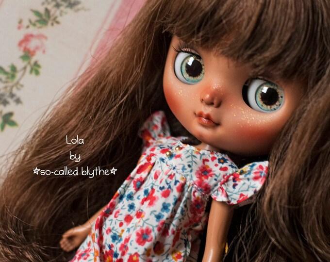 OOAK custom middie Blythe doll Lola