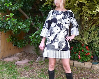 Boatneck DRESS or TOP - Alexander Henry - Yoko - Made in any Size - Boutique Mia by CXV