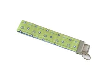 Floral Keychain, Cloth Key Fob, Handmade Key Chain, Key Wristlet, Wrist Lanyard, Key Lanyard, Fabric Key Holder, Fabric Lanyard