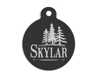 Rustic Dog Tag for Dogs, Custom Pet Id Tag, Outdoor Dog Tag, Personalized Name Tag, Rugged Dog Tag, Trendy Collar Tag for Dogs, Cat Id Tag