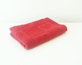 Knit baby blanket / Hand knitted baby blanket / Merino wool blanket / baby blanket