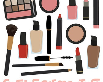Makeup clip art images,  makeup clipart, makeup vector, royalty free clip art- Instant Download