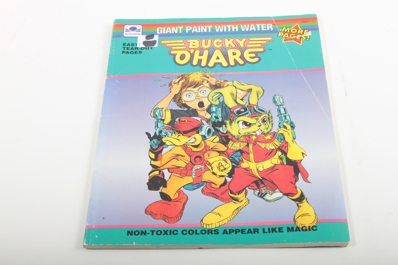 Bucky O Hare Jahrgang Malbuch riesigen Farbe mit Wasser
