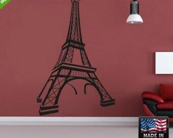 Eiffel tower Wall Decal large Eiffel tower Sticker Eiffel wall decal Eiffel wall stickers (z112)
