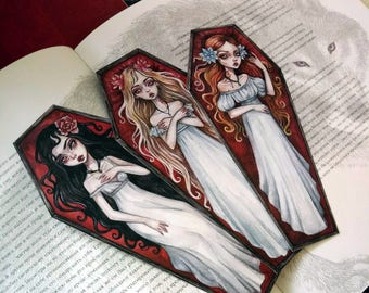 Gothic bookmarks. Brides of Dracula.