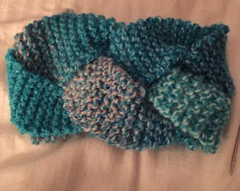 Knit Braided Earwarmer Headband- Cotton Candy