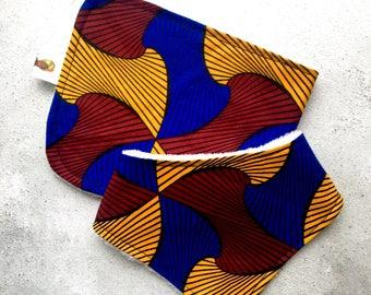 African Print Bib and Burp Cloth Set, Bandana Bib, Ankara Fabric, Organic Baby Gift, African Fabric, Baby Shower Gift, Gender Neutral Gift