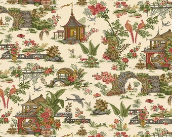 Botanica 3 - Cream Toile by Scarlet Story from Henry Glass