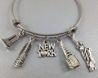 New York Bracelet, Empire State Building, Flatiron Building, Chrysler Building, Statue of Liberty