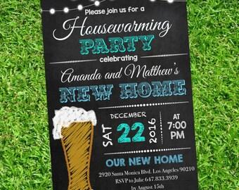 Housewarming invitation - Housewarming Party -  Chalckboard Invitation - New house Invitation -  Editable Text on Adobe #DPI1364