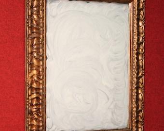 Italian golden wooden mirror