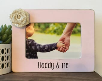 Daddy and Me Picture Frame Gift // Personalized Gift // Baby Gift // Father's Day Gift // Gift from Child // For Dad