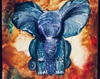 Elephant in crayon