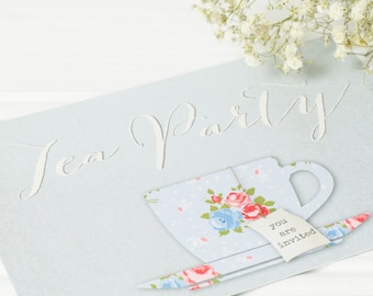 Pack of 10 Tea Party Invitations