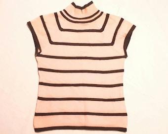 "AUCASAURUS modern ""Kenzie"" cap sleeve cashmere knit top Sz Sm"