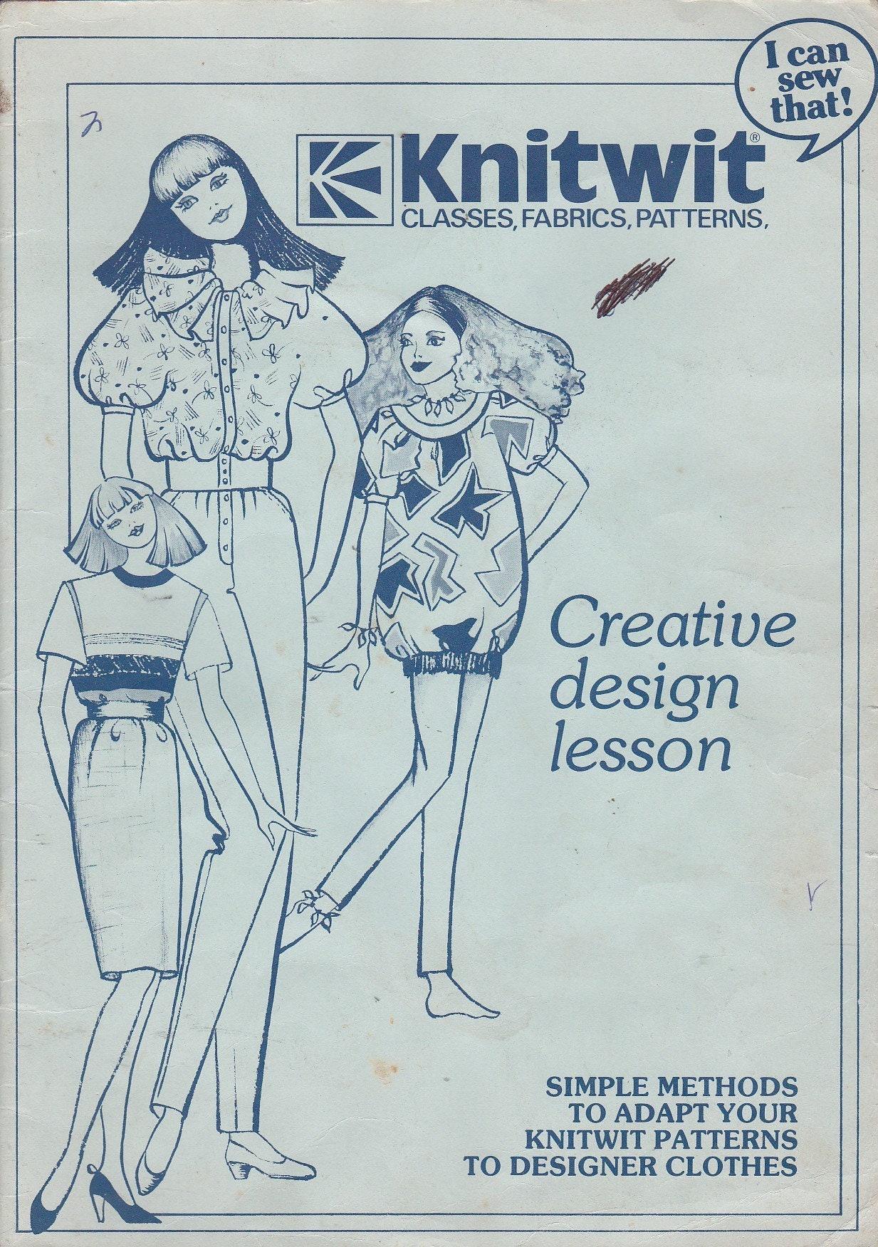 Knitwit Creative Design Lesson Book Vera Randall 1981