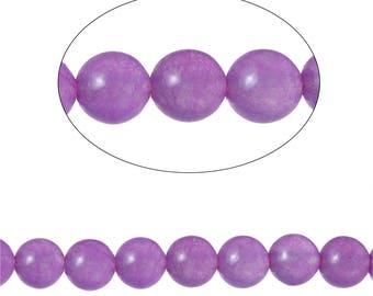 Set 90 Agate beads round 4mm - SC71588 purple.